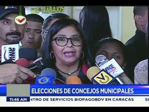 Vicepresidenta venezolana Delcy Rodríguez declara tras votar en elecciones de concejales