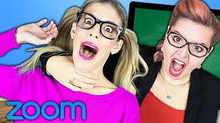 We Crashed Real Zoom School Classes by Hacking In! (Bad Idea) Rebecca Zamolo