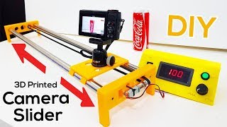 How to Make a Motorized Camera Slider - 3D Printed DIY