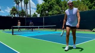 Pickleball - Full Game At Anaheim Tennis Center