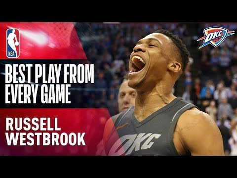 Russell Westbrook's Best Play From Every Game of the 2017-2018 NBA Season | AVERAGED A TRIPLE DOUBLE