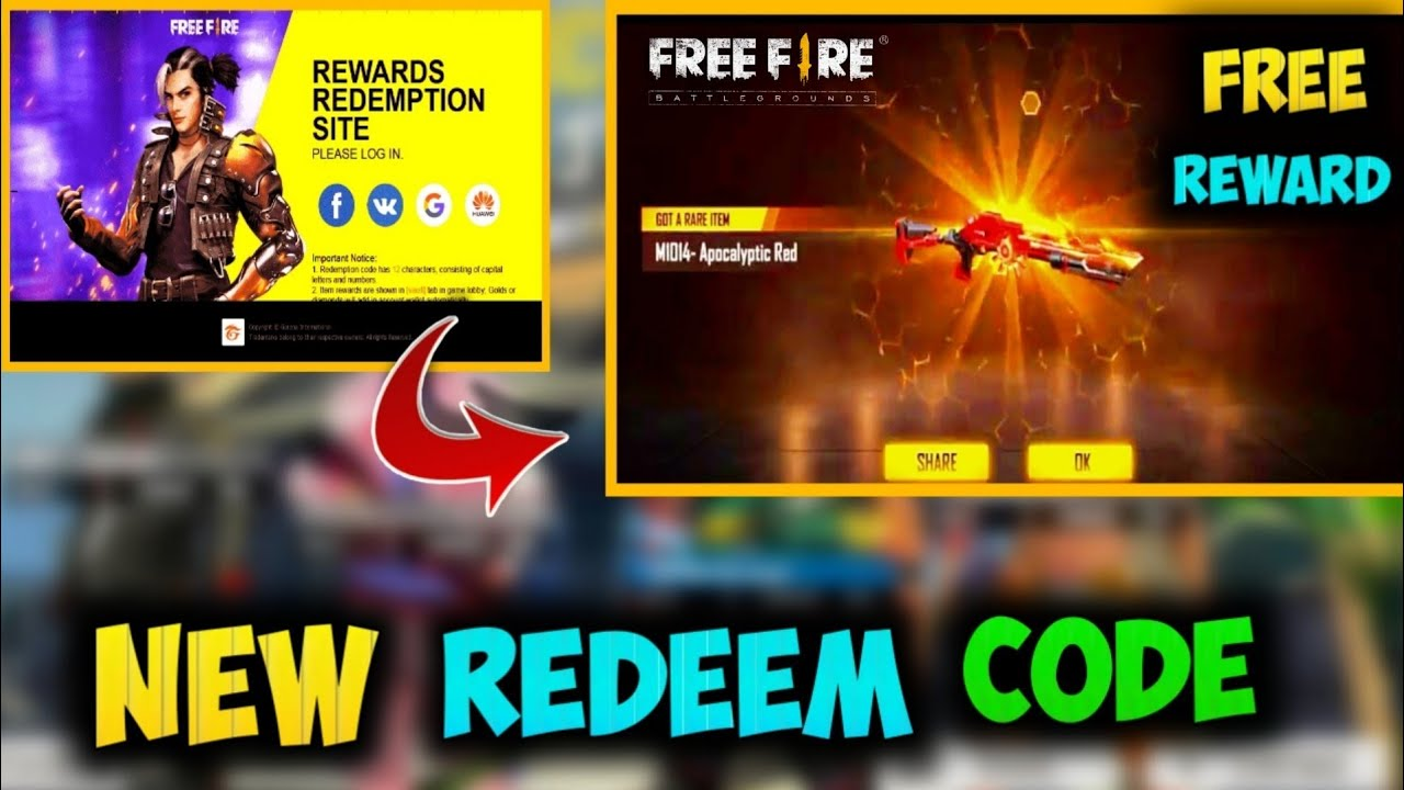Free Fire New Redeem Code 2020 Today | FF Rewards ...