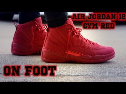 Air Jordan 12 Gym Red ON FOOT