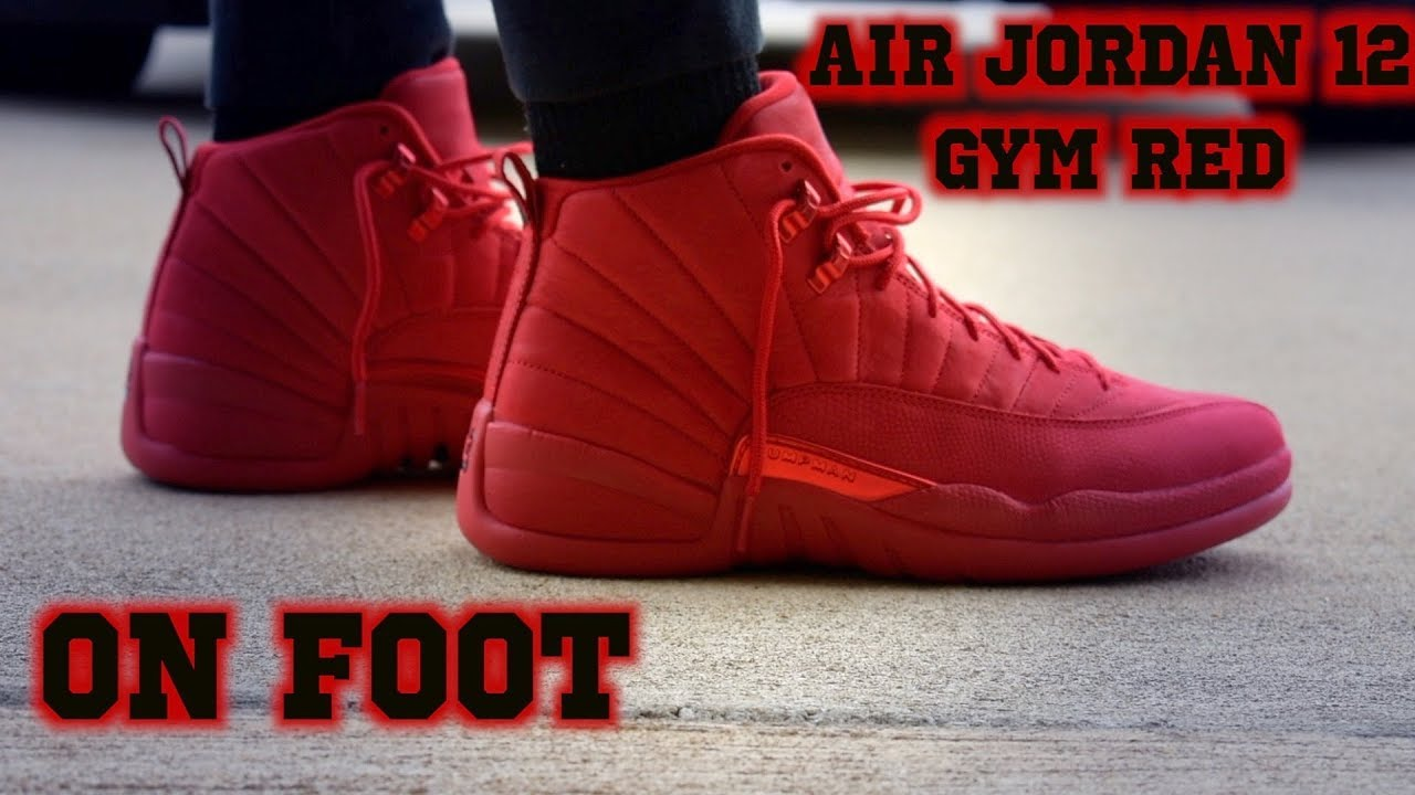 best service 46886 2994e Air Jordan 12 Gym Red ON FOOT