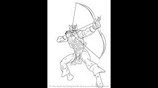 How to Draw Hawkeye