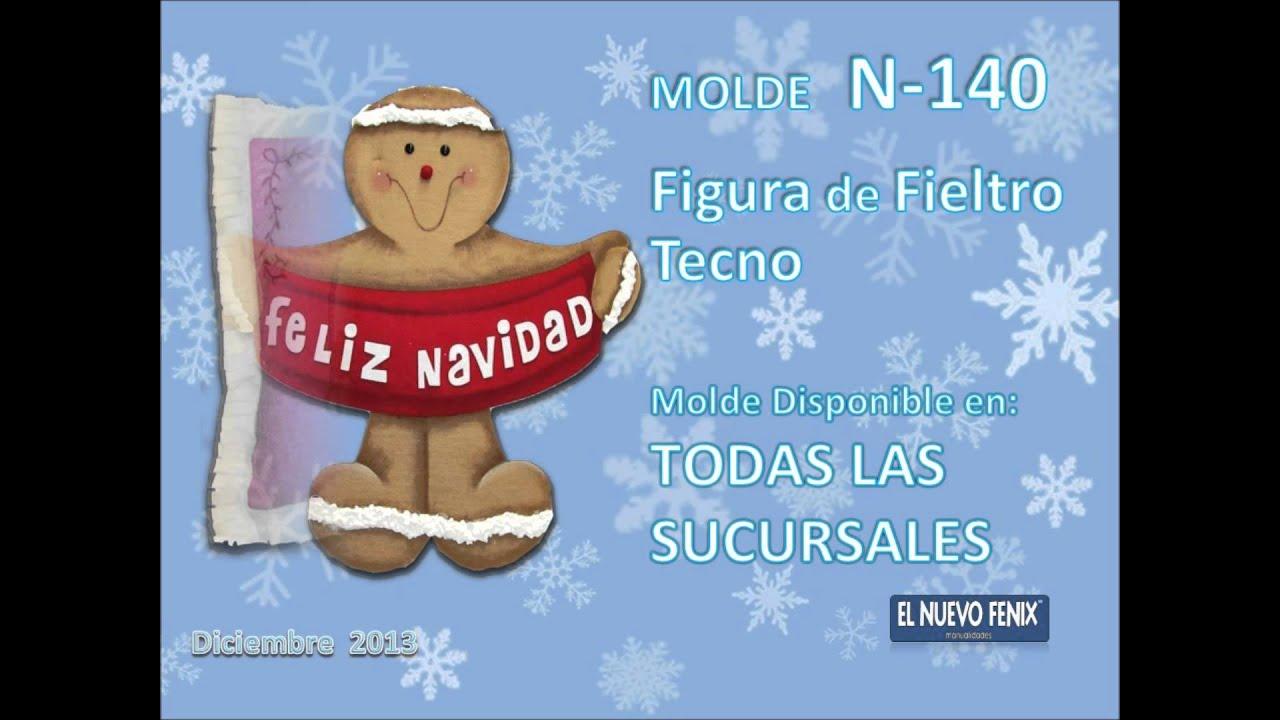 Juegos De Baño De Fieltro:Moldes Navidad 2013 – YouTube