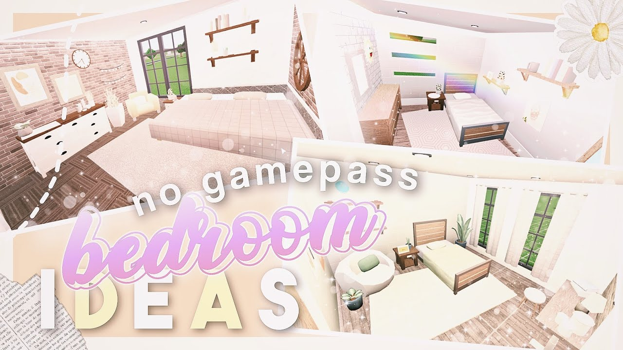 Bloxburg 5 No Gamepass Bedroom Ideas Roblox Youtube