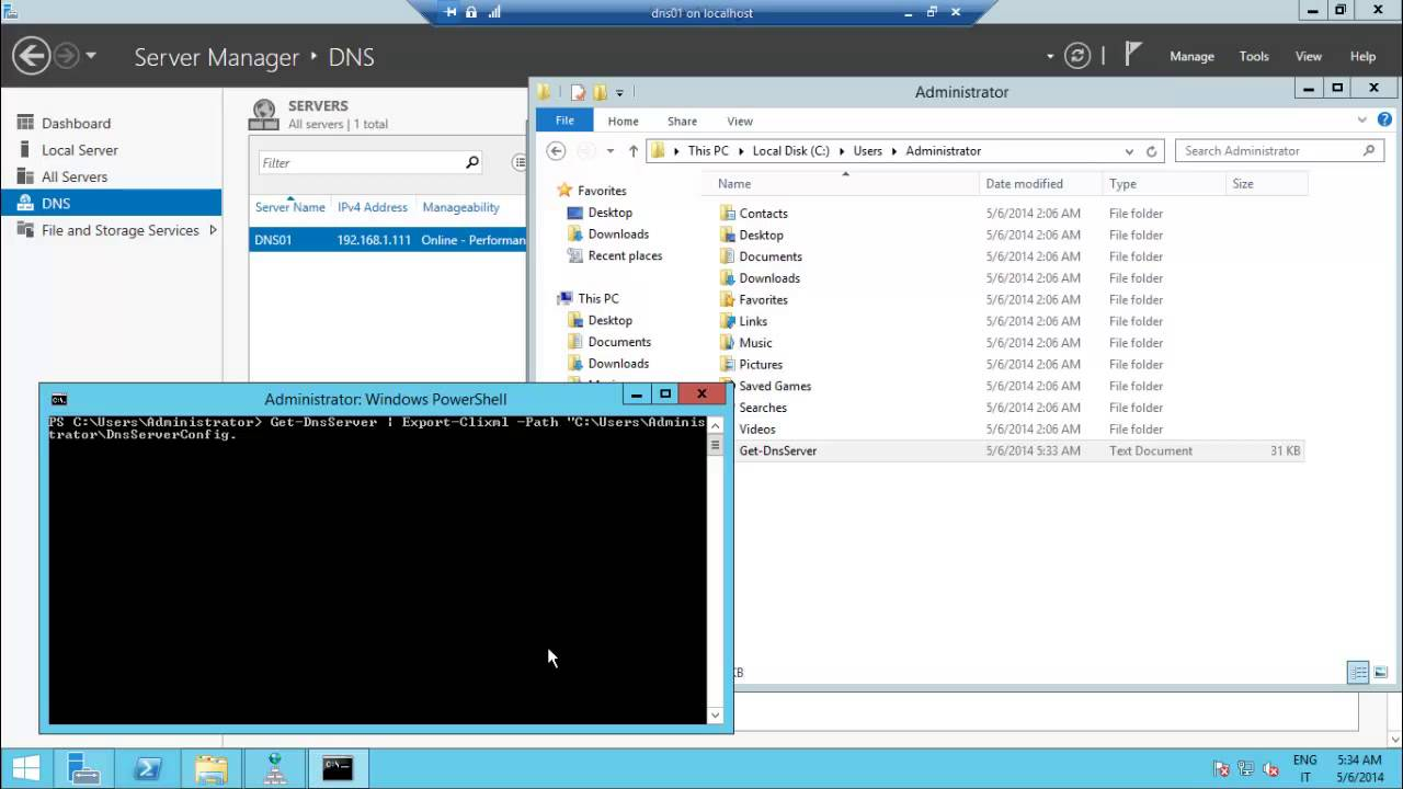 Administering DNS Server with Management Console and PowerShell