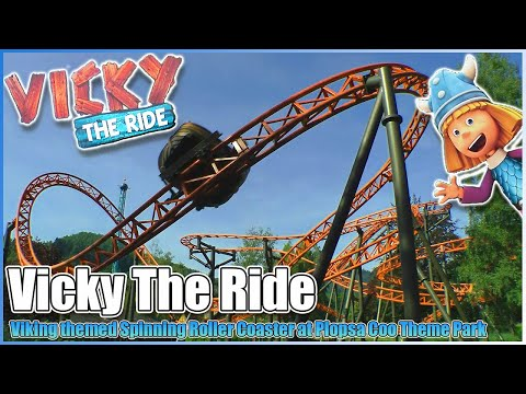 🦄Vicky the Viking🎢Roller Coaster Off/On Ride POV at Plopsa Coo Theme Park Belgium Wicky Ride
