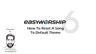 How to Reset a Song to Default Theme