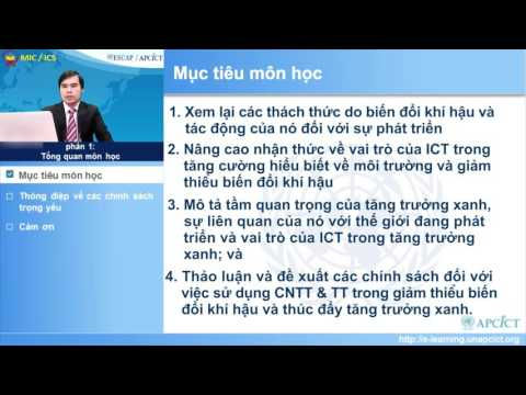 Vietnamese - Module 10: ICT, Climate Change and Green Growth - Session 1