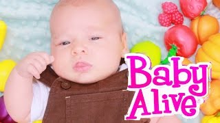 Baby Alive NOT SMART Newborn Baby Eli Learn Colors Sorting Fruits Vegetables Market Toy Review