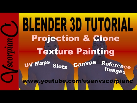 Blender 3d Tutorial - Projection & Clone Texture Painting by VscorpianC