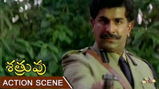 Police Offcer Killing Child Scene || Shatruvu Telugu Movie || Venkatesh, Vijayashanti
