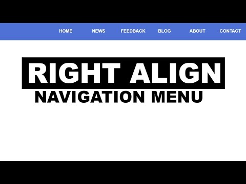 Right Align Navigation Menus With Html And Css : For Beginner
