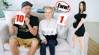 HUSBAND & DAUGHTER RATE MY HOT PREGNANCY OUTFITS!