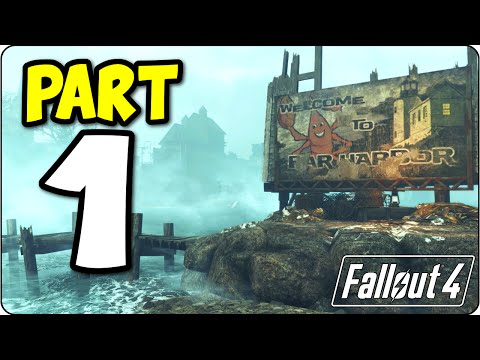 Fallout 4 Far Harbor Add-On DLC Let's Play Walkthrough Part 1 - PS4 Edition FO4 Gameplay