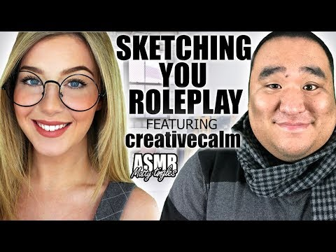[ASMR] Sketching You Roleplay (feat Creative Calm) | MattyTingles