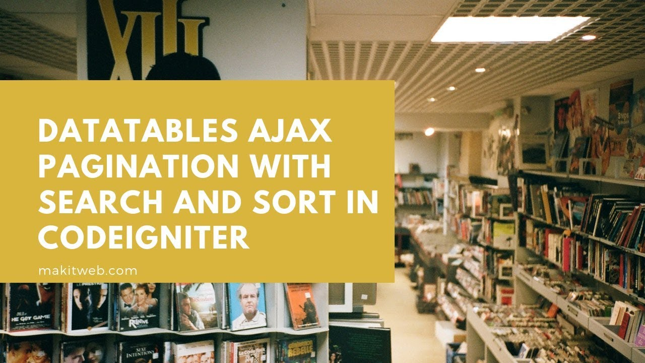 DataTables AJAX Pagination with Search and Sort in