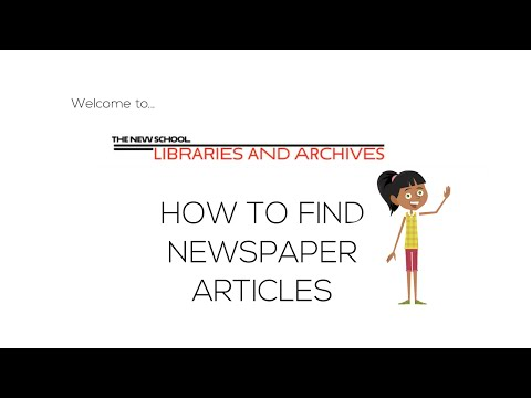 How To Find Newspaper Articles   The New School Libraries And Archives