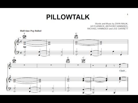Pillowtalk - Zayn [Sheet Music and Midi Download] - YouTube