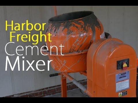 Harbor Freight Cement Mixer 3 5 Cubic Ft Test