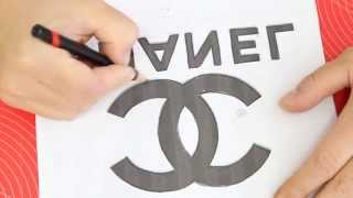 Kricky Cakes Decoration: Chanel logo painted to fondant