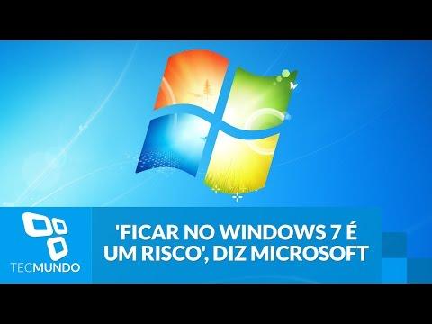 'Ficar No Windows 7 é Um Risco', Diz Microsoft
