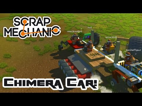 Telephone Game Vehicle Race & The Chimera Car! - Let's Play Scrap Mechanic Multiplayer - Part 402