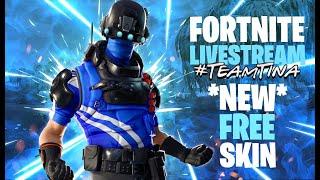 Free Carbon Commando Skin | Fortnite | Live | Season 8 #TeamTina