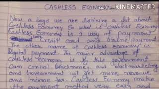 paragrap on cashless economy