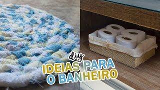 DIY - Ideias FÁCEIS e BARATAS de decoração para o BANHEIRO #02