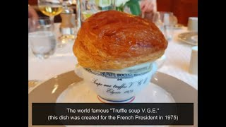 The 'Paul Bocuse Menu' at 3 Michelin star Paul Bocuse Restaurant in France