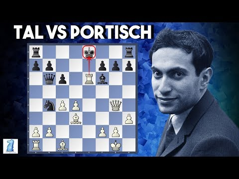Mikhail Tal Vs Lajos Portisch  1965 Bled Candidates  The Amazing Rook Sac