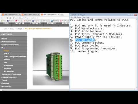 Selec Flexys Tutorial 1 - A few PLC basics - YouTube