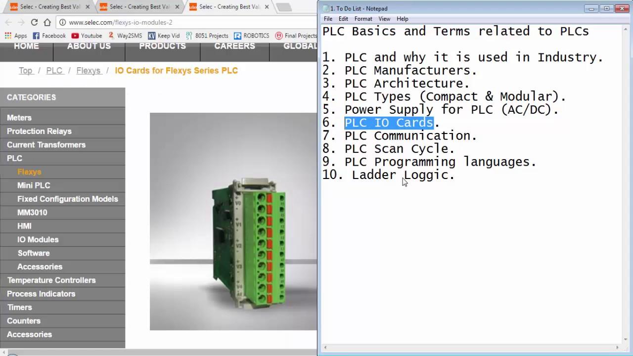 Selec Flexys Tutorial 1 - A few PLC basics