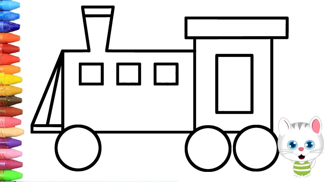 Wie Zeichnet Man Zug Zeichnen Und Ausmalen Für Kinder Youtube