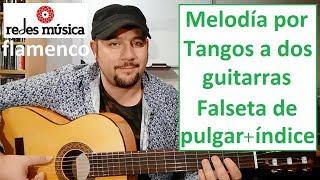 Aprende tangos a dos guitarras falseta índice pulgar Tablatura pdf gratis