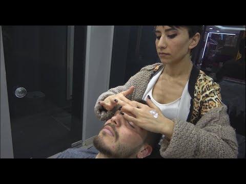 ASMR Turkish Woman Barber  Face, Head And Body Massage 235