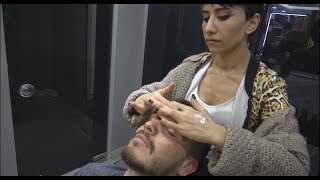 ASMR Turkish Woman Barber Face Head And Body Massage 235