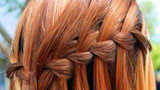 Как плести косу водопад видео. Как быстро заплести косу водопад?
