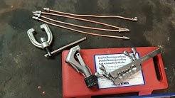 Tillverkar bromsrör med Biltemas dubbelkoningsverktyg!