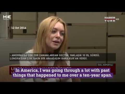 Lindsay Lohan on Islam and America today.