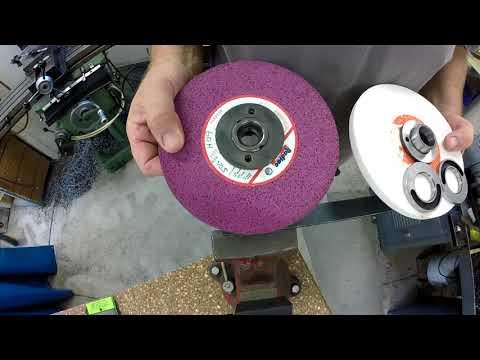 Grinding wheel mounting & balancing