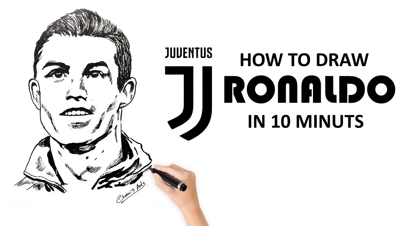 Cristiano Ronaldo From Juventus Drawing Tutorial Youtube