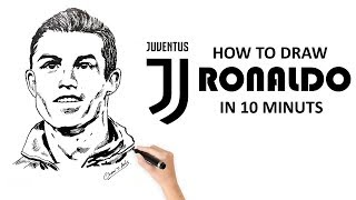 Cristiano Ronaldo from Juventus Drawing Tutorial
