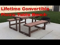 Lifetime 60054 Convertible Simulated Wood Picnic Table Bench