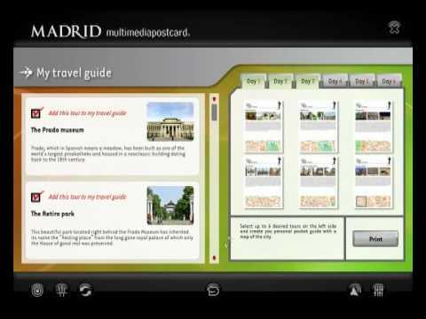Madrid Multimedia Postcard