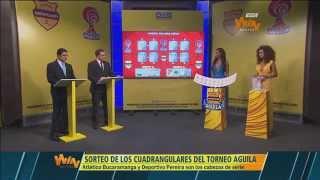En vivo: Sorteo de los cuadrangulares del Torneo Aguila
