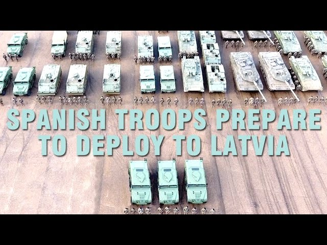 Spanish troops prepare to deploy to Latvia
